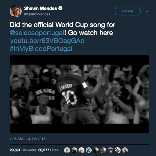 'In My Blood', Lagu Shawn Mendes yang Jadi Penyemangat Timnas Portugal