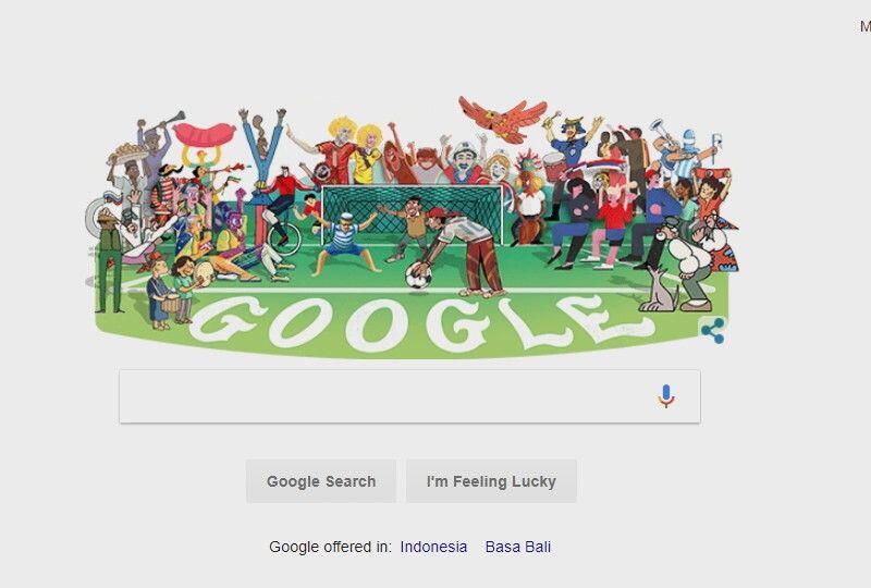 Google Doodle Turut Rayakan Pembukaan Piala Dunia 2018