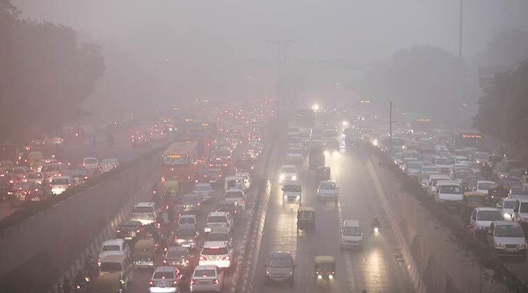 Kota New Delhi Diselimuti Kabut Debu yang Mengganggu Pernapasan