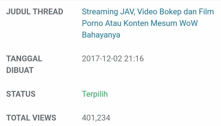 TOP Koleksi, 5 Thread Arbib Di Kaskus Kreator Yang Dapat Viewer Lumayan. (18TH + !)