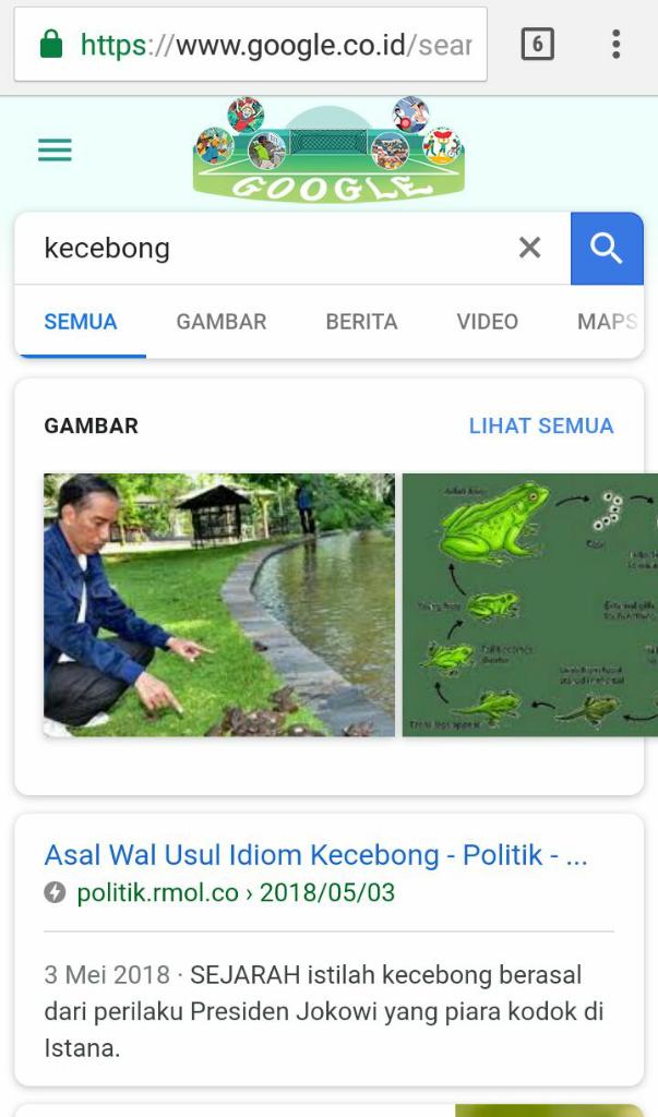 Foto Presiden Jokowi Muncul Saat Cari 'Kecebong' di Google, Kok Bisa?