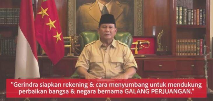 Prabowo Minta Sumbangan untuk Perjuangan Politik, Netizen Berikan Kritikan Pedas, Makjleb!!!