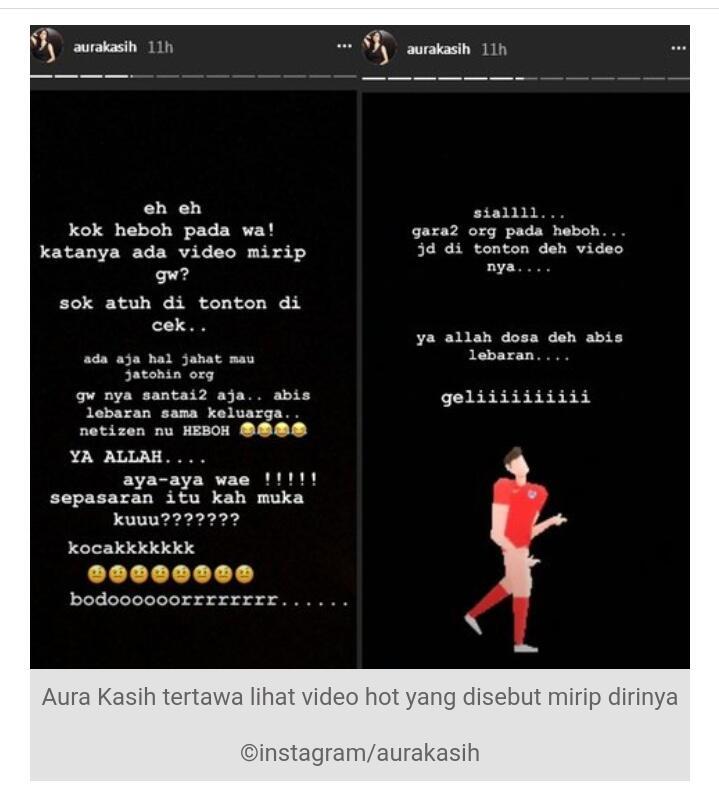 Aura Kasih 2018, Walau Diterpa Isu Video Mesum, Di Instagram Tetap Beraura