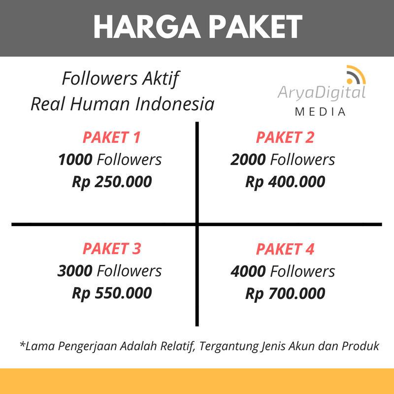 Terjual Jasa Followers Aktif Tertarget Indonesia Naikkan Omzet