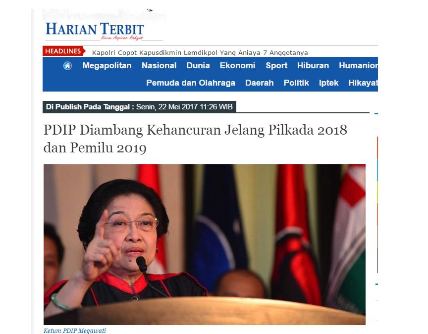 Terancam Tak Lolos Ke Senayan, Sebaiknya PDIP Tinggalkan Jokowi