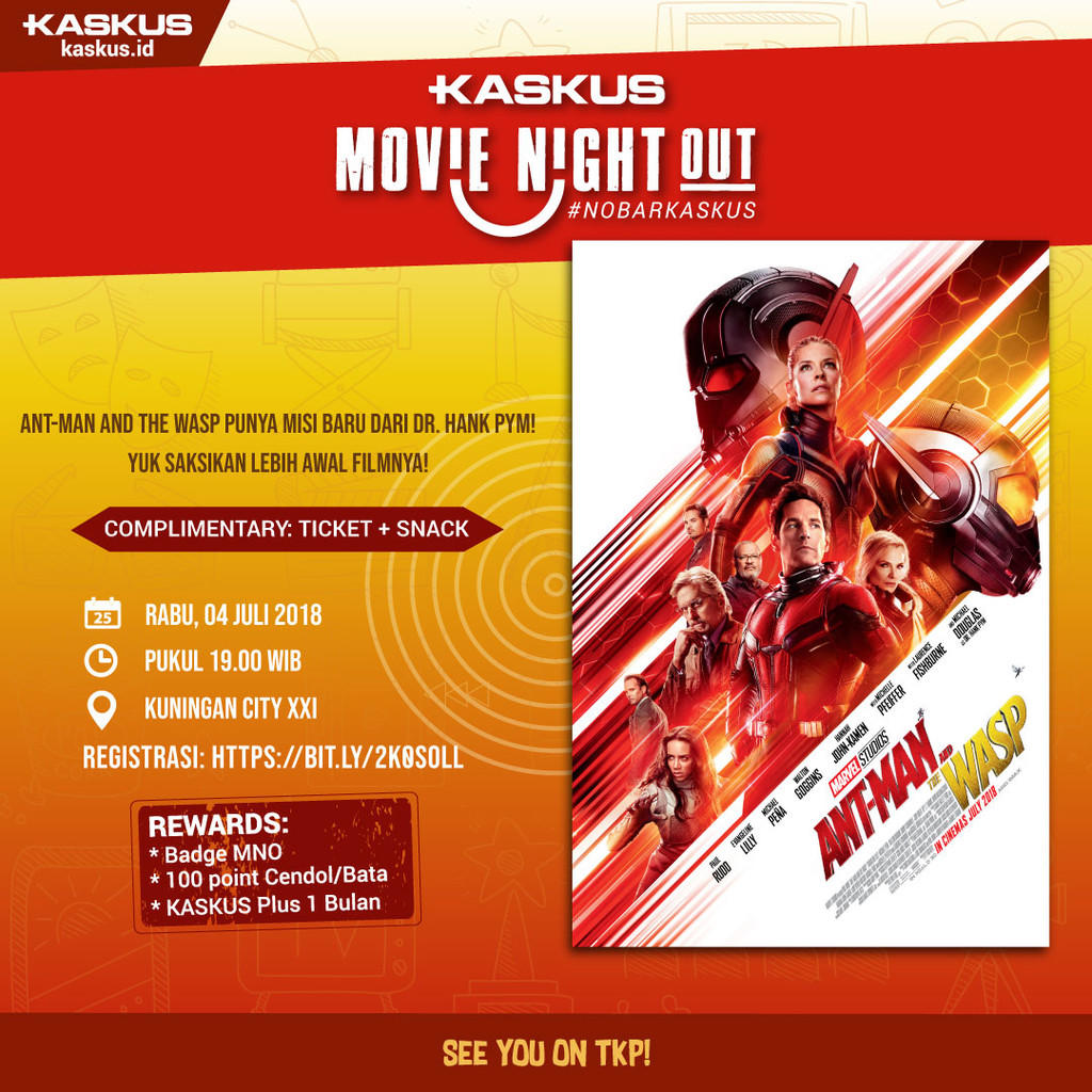 Merah Hitamkan Bioskop di #NobarKASKUS Ant-Man and The Wasp!