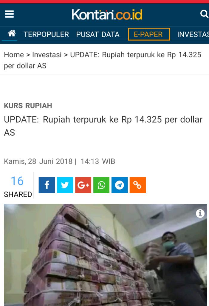 Pelemahan Rupiah Hampir Tembus 14.300 per Dolar AS, Apa Langkah BI?