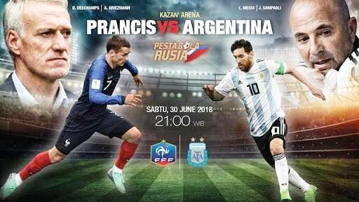 Hasil Piala Dunia 2018, Francis vs Argentina