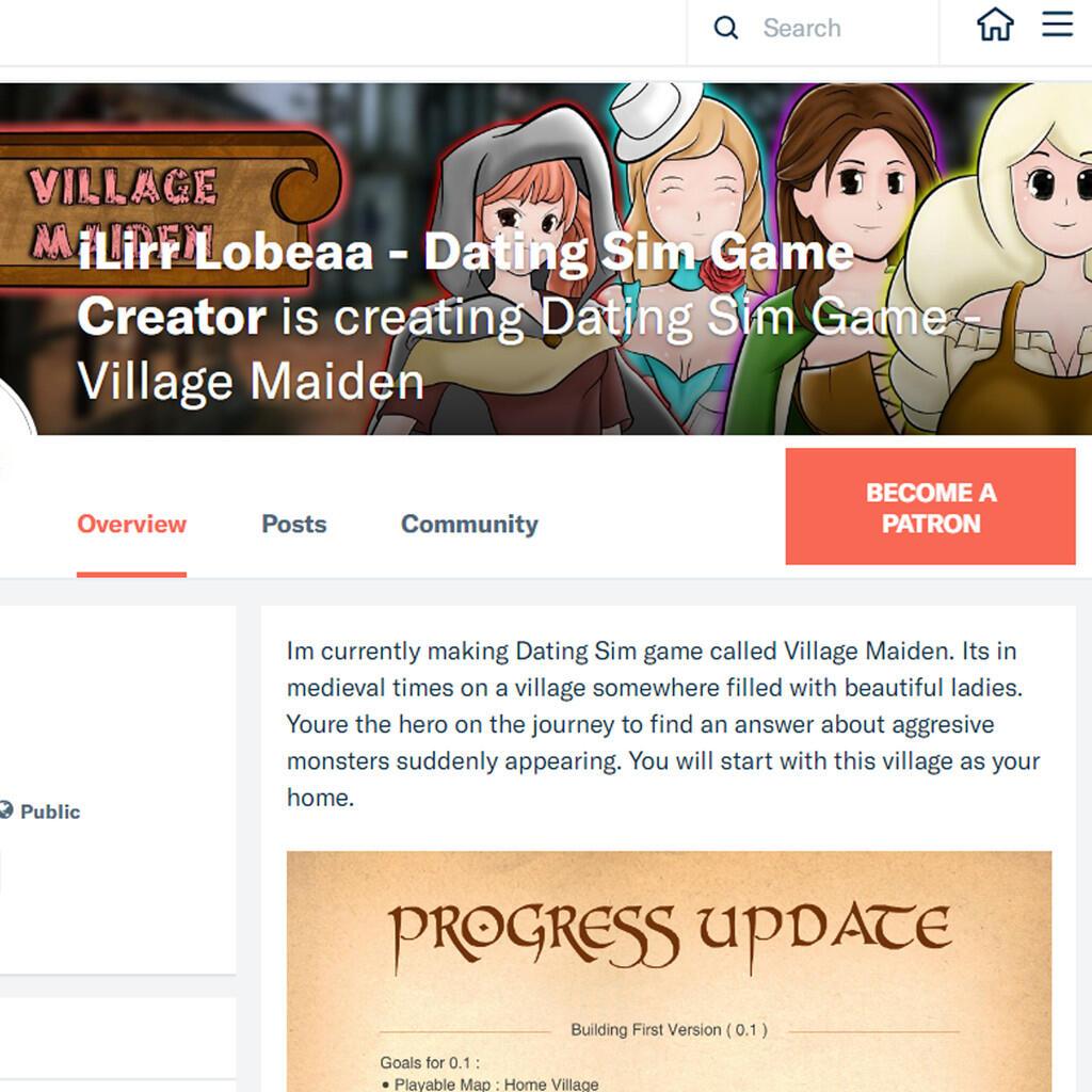 Halo gan, saya lagi mengembangkan game pribadi - Dating Sim - Village Maiden