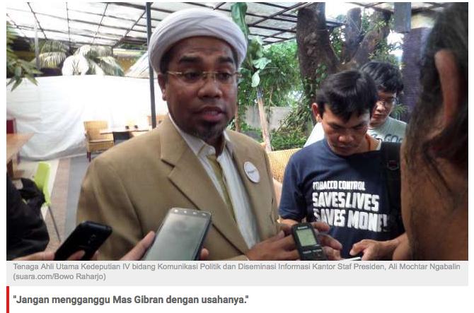 Neno Warisman Cs Demo di Toko Anak Jokowi, Ngabalin: Ngaca Dulu!