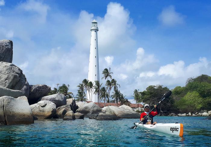 Merebut Status UNESCO Global Geopark Bagi Pulau Belitung Melalui Kayak