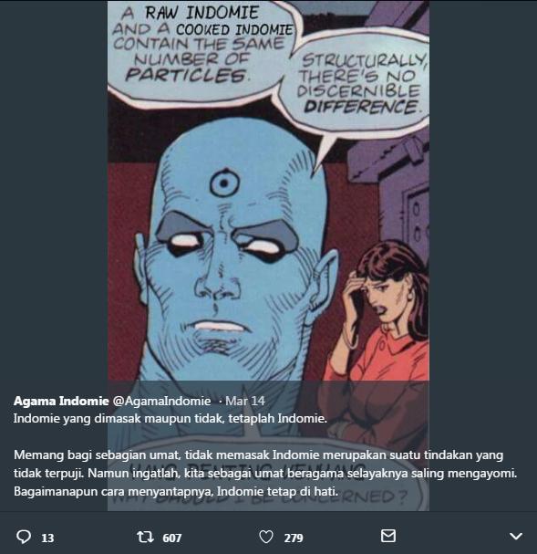 Mengenal Agama Indomie. Akun Twitter dengan Kumpulan Meme dan Tweet Lucu [UPDATE]