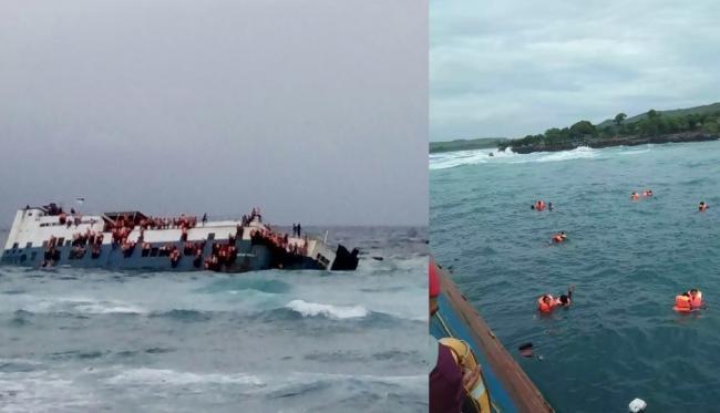 Suasana Menegangkan Insiden KM Lestari Maju di Selayar