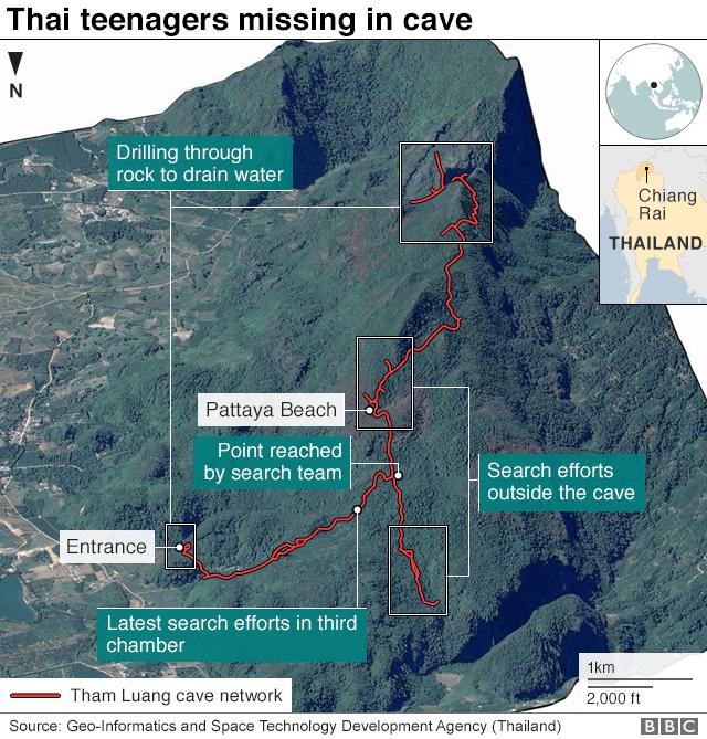 12 Remaja Thailand Menghilang di Gua Terlarang Selama 9 Hari