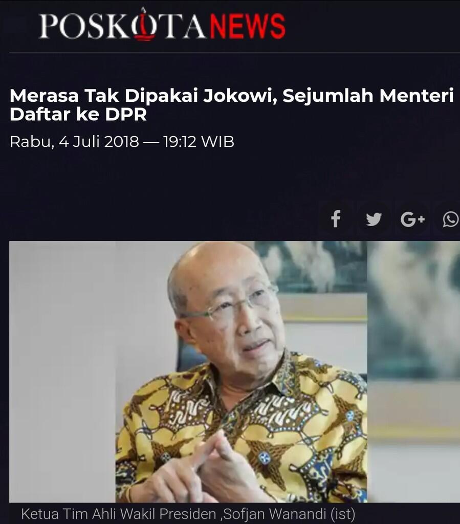Merasa Tak Dipakai Jokowi,Sejumlah Menteri Daftar ke DPR