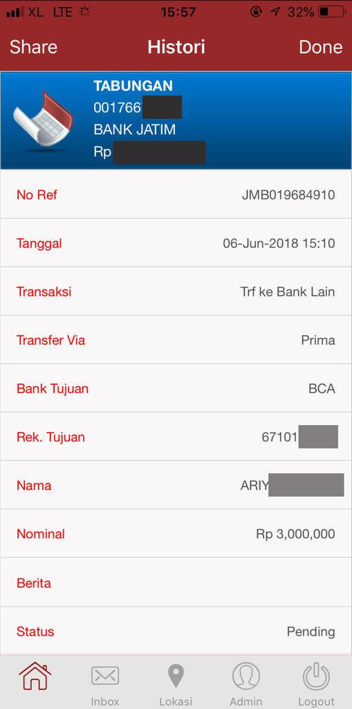 Transfer Dana Pending dari Bank Jatim ke BCA Tapi Saldo Terpotong