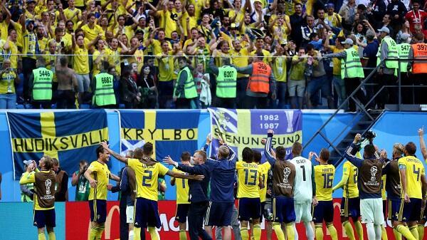Cara Apik Swedia Tandai Laga ke-50 di Piala Dunia
