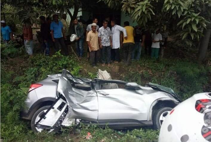 Kecelakaan Mobil Kijang Inova di Aceh Utara