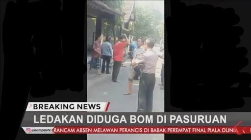 Hari ini! BOM meledak empat kali di Pasuruan