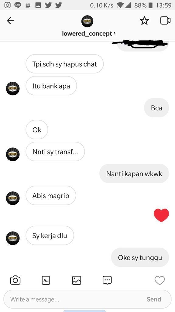 Hati-Hati yang ingin membeli barang dari Instagram Lowered_Concept