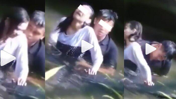 Kedua Pasangan ini Tertangkap Kamera Sedang 'Anu' Di Sungai, Apa Enaknya?