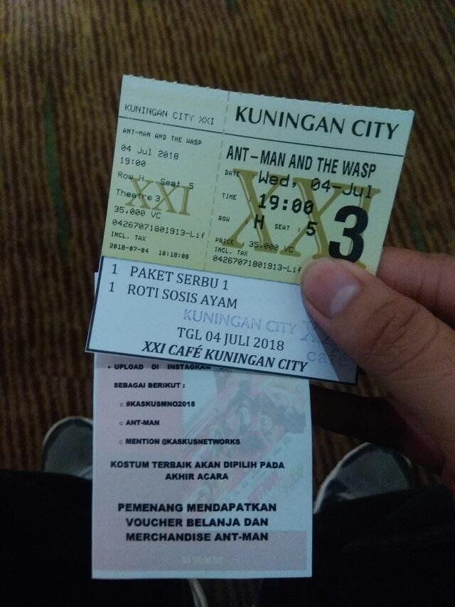 [FR] Beginilah keseruan Kaskus Movie Night Out : Ant Man and The Wasp