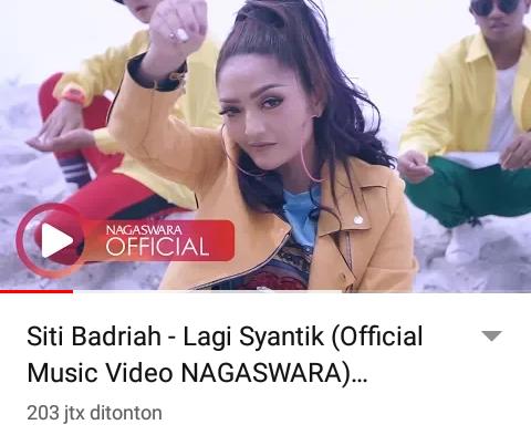 Tembus 200 juta views Siti Badriah Ciptakan Rekor.