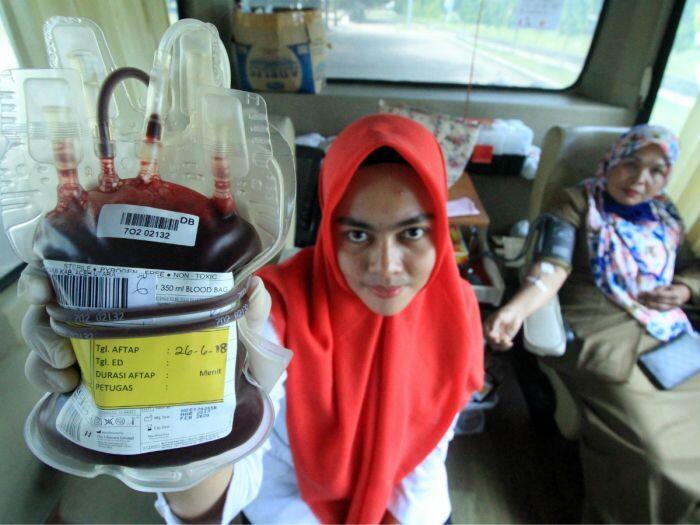 Indonesia kekurangan satu juta pasokan kantong darah