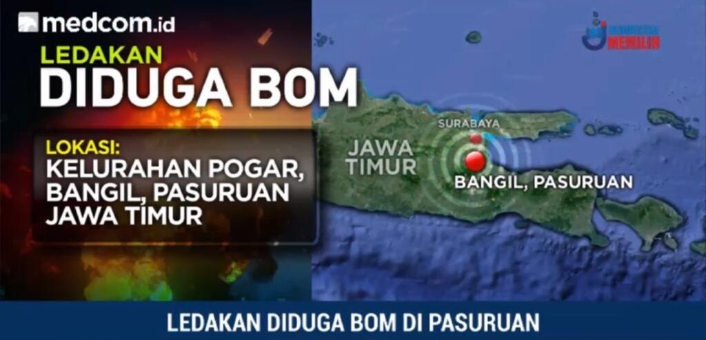 Polda: Ada Tiga Ledakan di Pasuruan