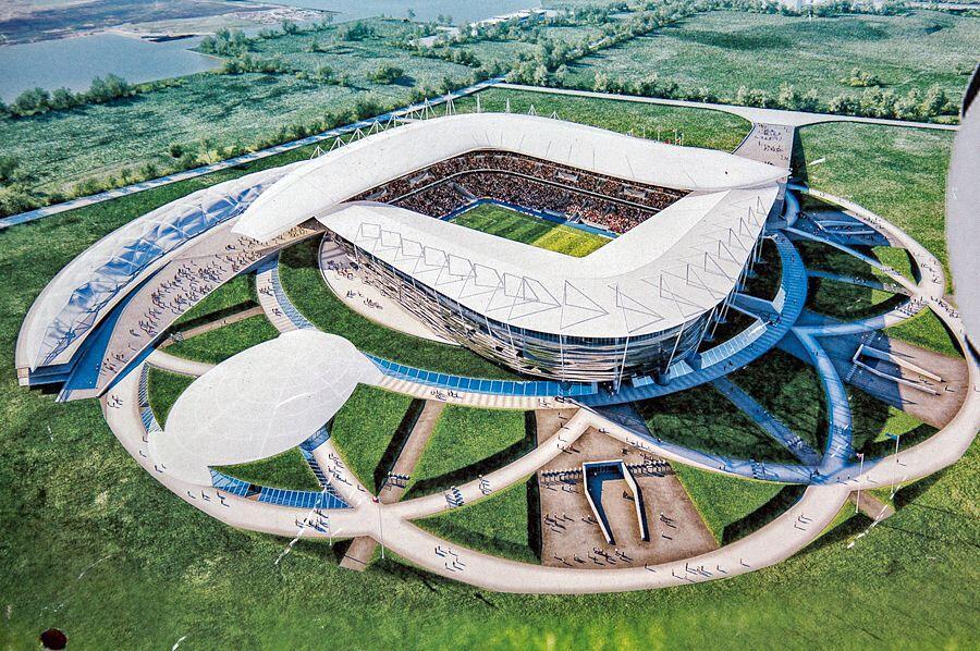 7 Spot Unik di Stadion Piala Dunia 2018, Ada Patung di Belakang Gawang
