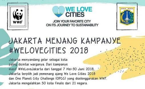 Jakarta Jadi Pemenang We Love Cities 2018