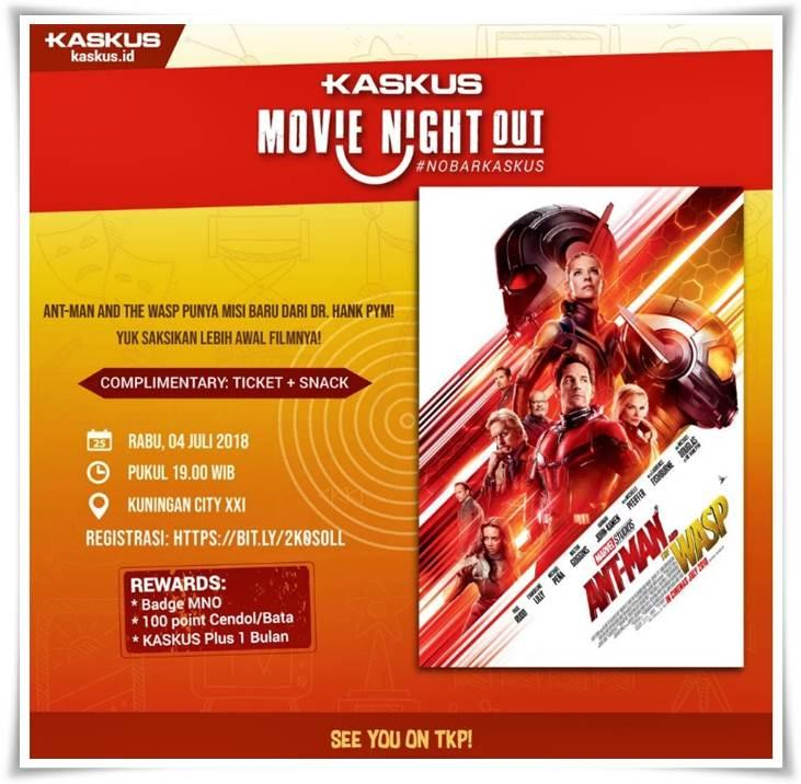[FR] Kaskuser Merah Hitamkan Bioskop di KASKUS Movie Night Out : Ant-Man and The Wasp