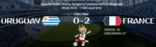 Perancis Menghancurkan Mimpi Uruguay