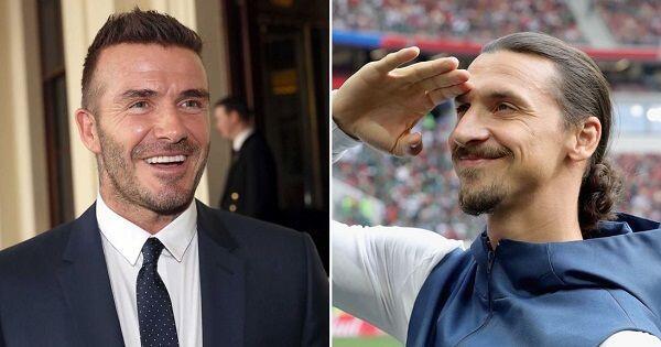 Ibrahimovic dan David Beckham Taruhan Jelang Laga Swedia Vs Inggris