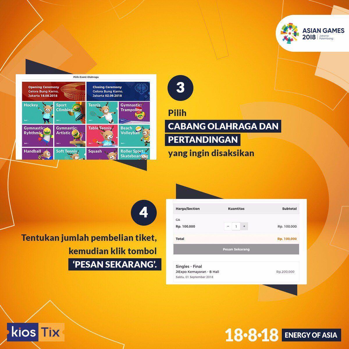 Sudah Dijual, Nih Cara Beli Tiket Asian Games 2018