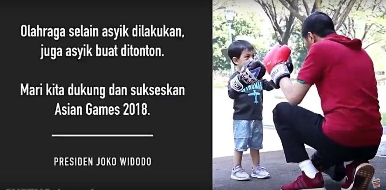 Main Tinju dan Sepakbola Bareng Cucu, Jokowi Promosikan Asian Games