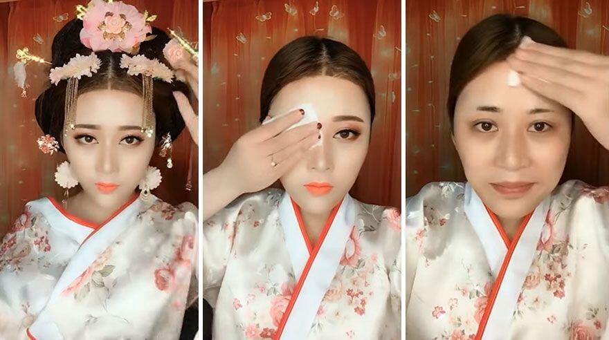 10 Foto Before dan After Make Up yang Mencengangkan, Bikin Melongo!