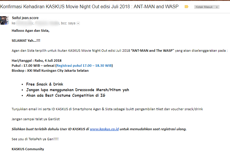 [FR] Nobar Kaskus Movie Night Out x Ant-Man and The Wasp Mangstab Gaaan