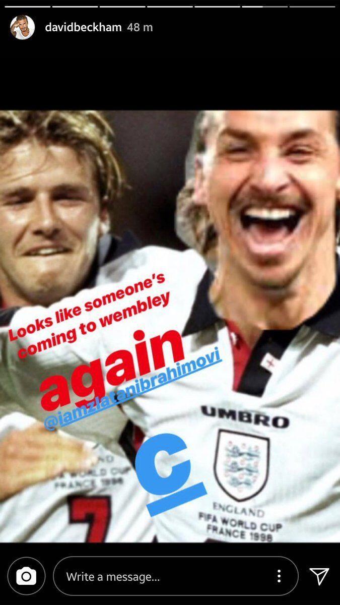 Kocak! Kalah Taruhan dari Beckham, Wajah Polos Ibra Malah Jadi Meme