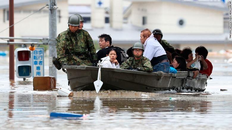 Banjir di Jepang, 100 Orang Sejauh Ini Dikabarkan Meninggal
