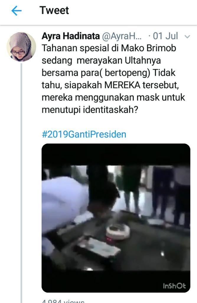 Komisi 3 Pertanyakan Dugaan Video Ultah Ahok di Mako Brimob
