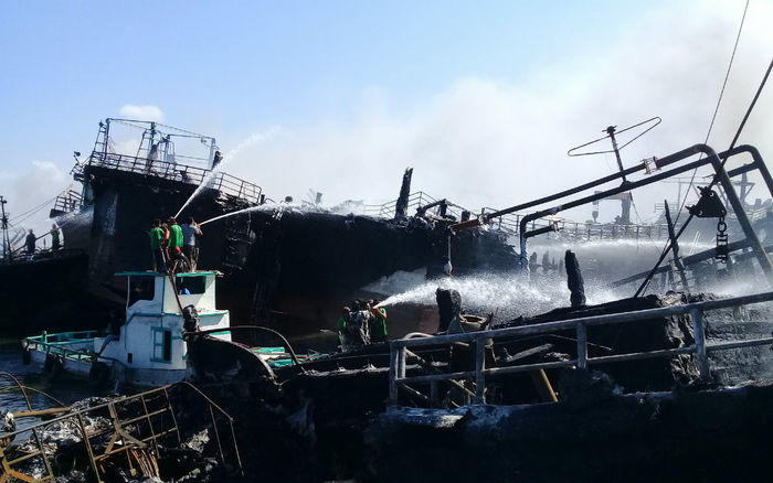 Kerugian kebakaran 39 kapal di Pelabuhan Benoa mencapai Rp120 Miliar
