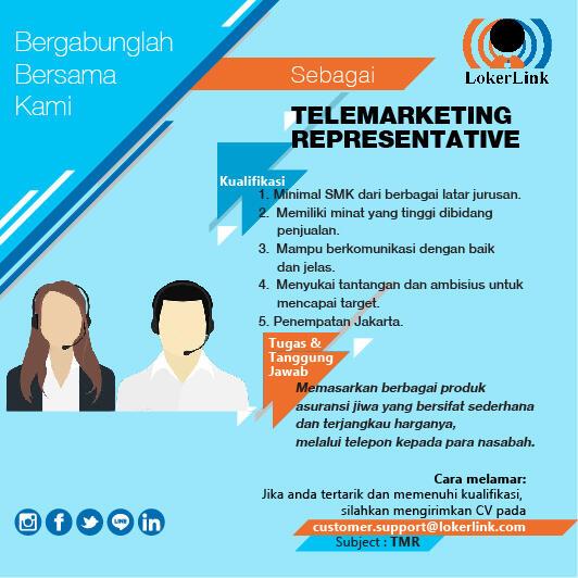 Info Loker : TELMARKETING