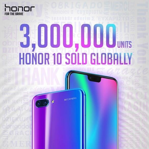 Honor mengalami peningkatan 150% di Pasar Internasional dalam satu periode 2018