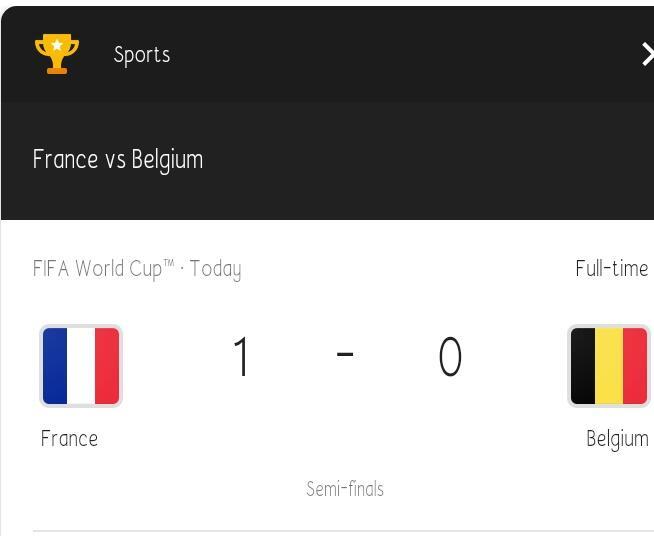 Tak terkalahkan, Francis bekuk Belgia