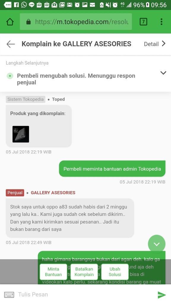 Hati2 dengan seller Tokopedia yang terkesan bereputasi positif yang kenyataannya tida