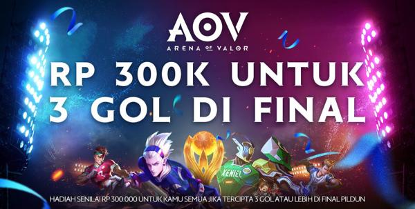 Rp. 300 ribu untuk 3 Gol di Final World Cup 2018!