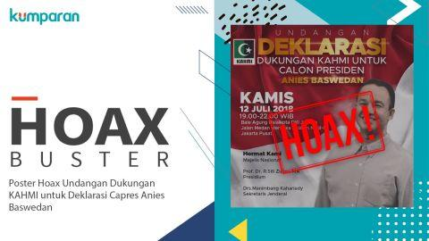 Hoaxbuster: Tidak Benar KAHMI Deklarasi Dukungan ke Anies Jadi Capres