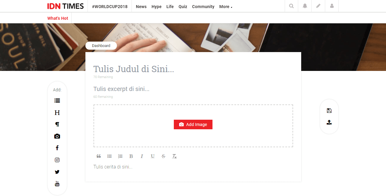 Tutorial Upload Gambar di Dashboard Baru IDN Times Community