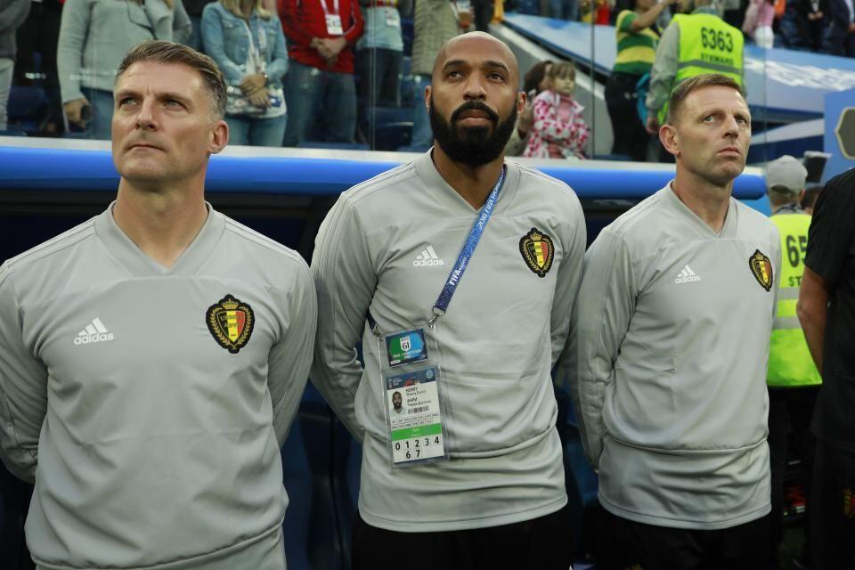 FOTO: Apa yang Dipikirkan Thierry Henry di Bench Belgia Semalam?